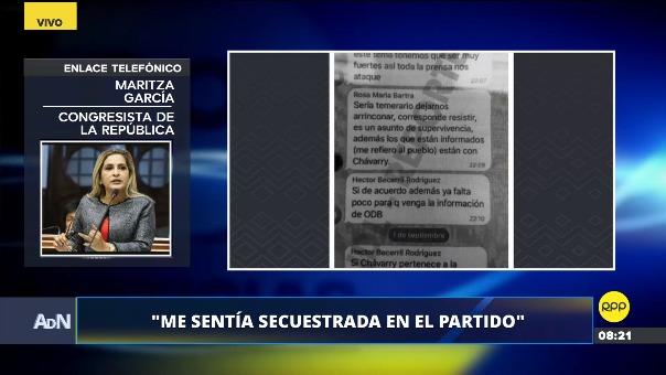 La congresista representante de Piura está suspendida de sus labores.