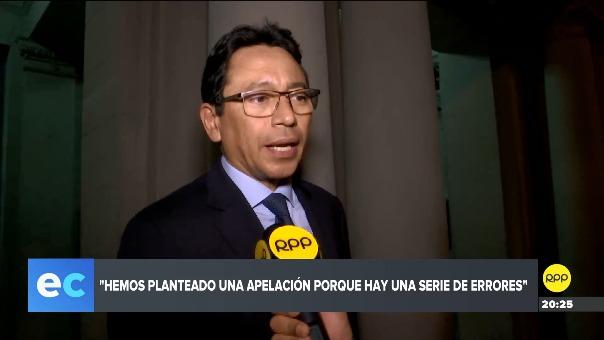 Humberto Abanto es el abogado del exintegrante del CNM Julio Gutiérrez Pebe.