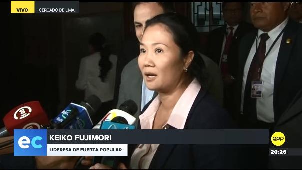 Keiko Fujimori declaró a la prensa a su salida del tercer día de la audiencia en la que se evalúa el pedido de prisión preventiva en su contra.