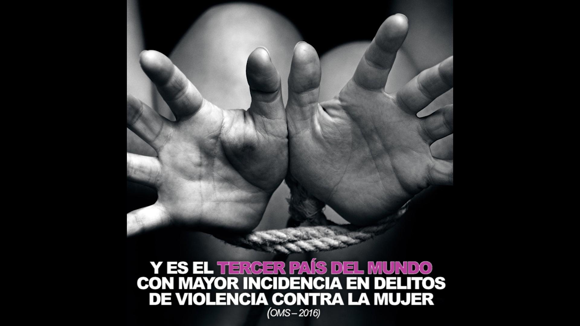 Se sitúa al feminicidio como el episodio final en una cadena de violencia y discriminación contra la mujer.