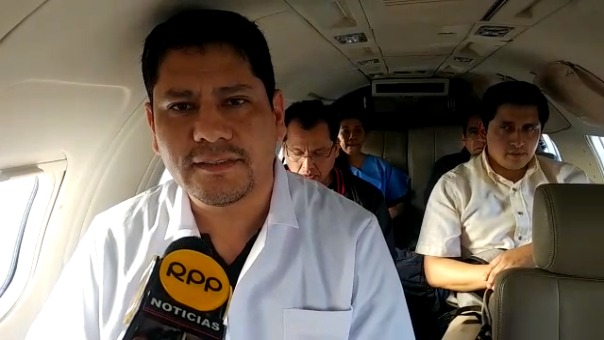 Un doctor, desde el aeropuerto de Chiclayo, comenta sobre el transporte de los órganos a Lima.