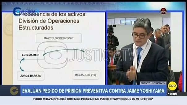 Fiscal José Domingo Pérez pidió unos minutos para recuperarse.