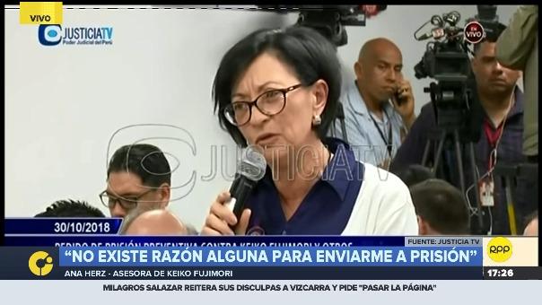 Ana Herz de Vega durante audiencia.