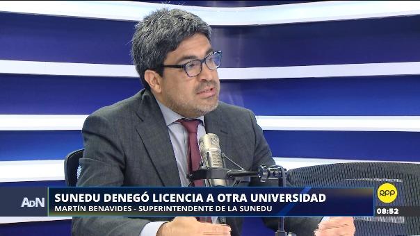 Martín Benavides, jefe de la Sunedu, en Ampliación de Noticias.