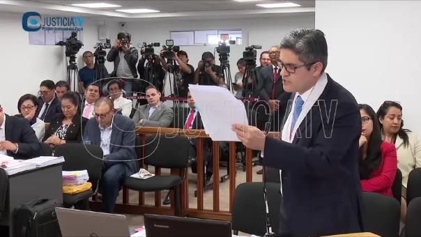 José Domingo Pérez sustenta el pedido de prisión preventiva contra Jaime Yoshiyama.