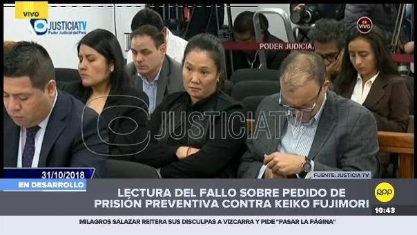 Juez Richard Concepción Carhuancho detalla las imputaciones sobre organización criminal al interior del partido Fuerza Popular.