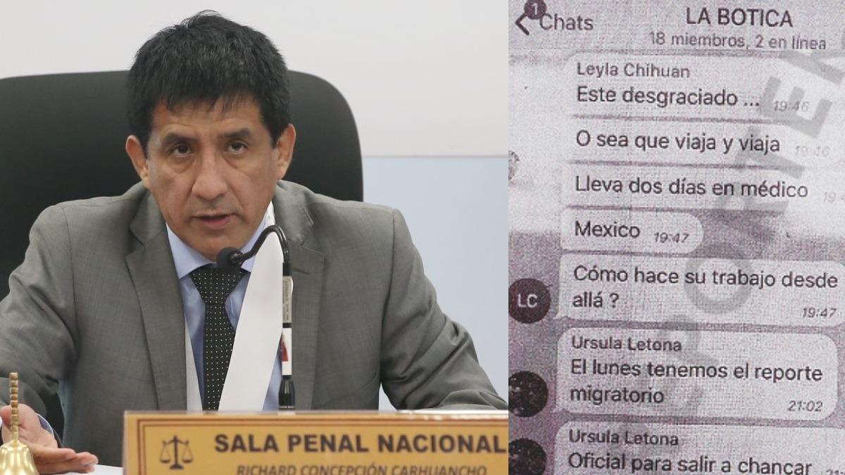 Juez Richard Concepción Carhuancho citó los elementos de convicción.