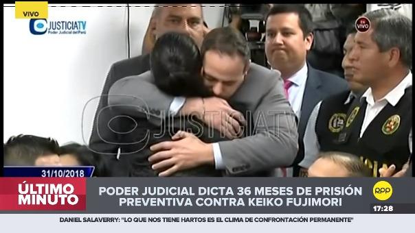 Poder Judicial dictó 36 meses de prisión preventiva contra Keiko Fujimori.