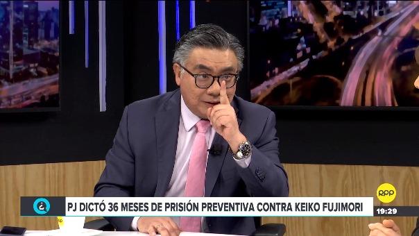El abogado César Nakazaki analiza la situación de Keiko Fujimori tras fallo de prisión preventiva en su contra.