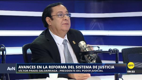 Víctor Prado Saldarriaga, presidente del Poder Judicial.