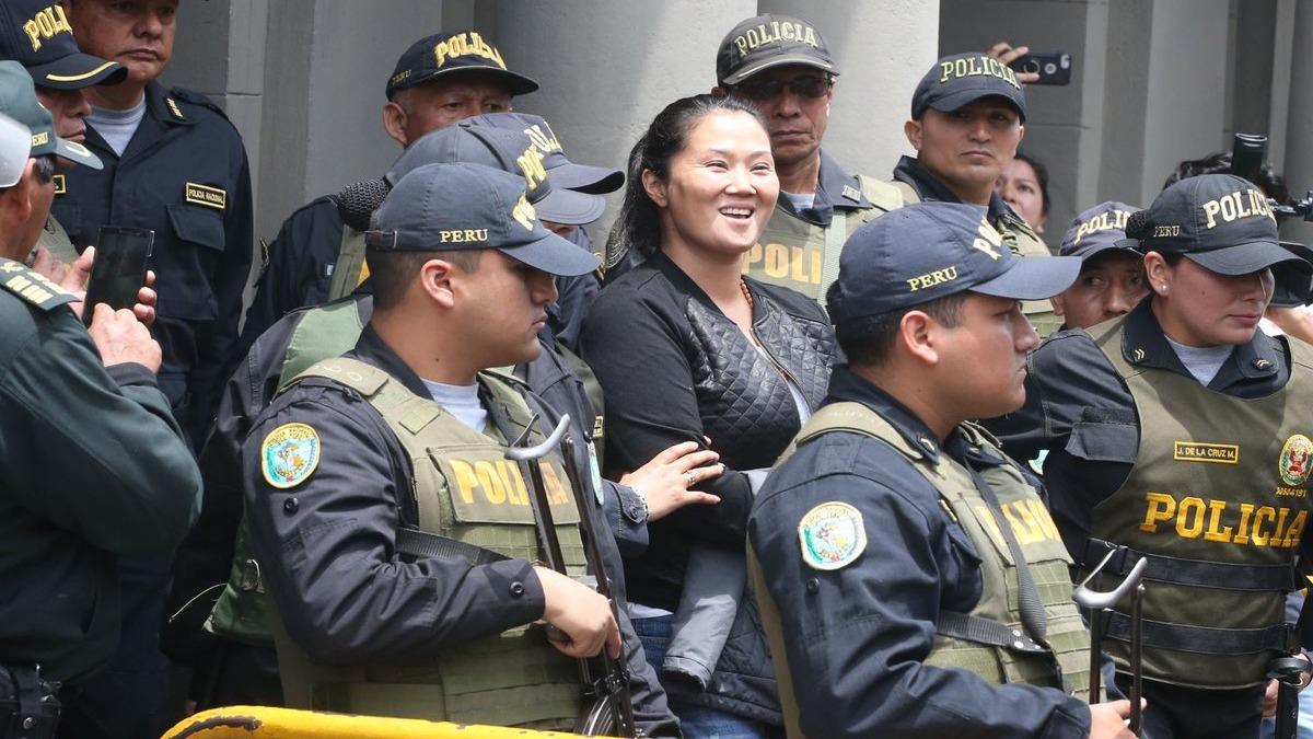 Keiko Fujimori es trasladada al penal Anexo Mujeres de Chorrillos.