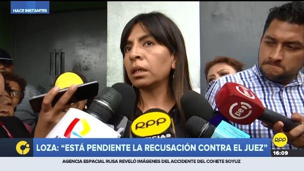 Giuliana Loza, abogada de Keiko Fujimori, declara tras visitar a su defendida.