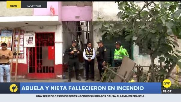 Incendio en una vivienda de La Victoria dejó dos muertos.