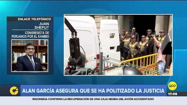 Juan Sheput dijo que Alan García quieres esquivar las investigacione spor el caso Lava Jato que también lo persiguen.