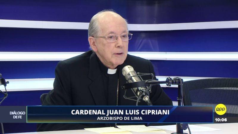 Juan Luis Cipriani en su programa Diálogo de Fe.