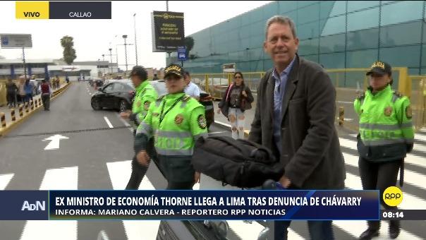 Pedro Chávarry formalizó denuncia constitucional contra ex ministro Alfredo Thorne.