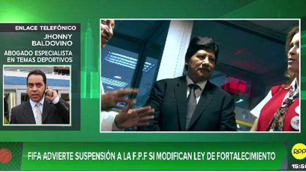FIFA advierte suspensión a la FPF si modifican ley de fortalecimiento.