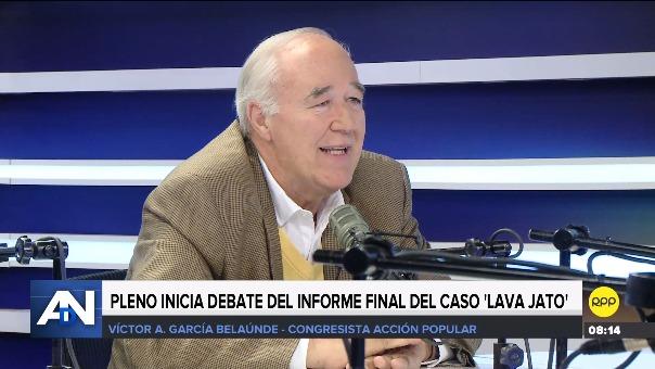 Entrevista con Víctor Andrés García Belaunde (Acción Popular) en RPP.