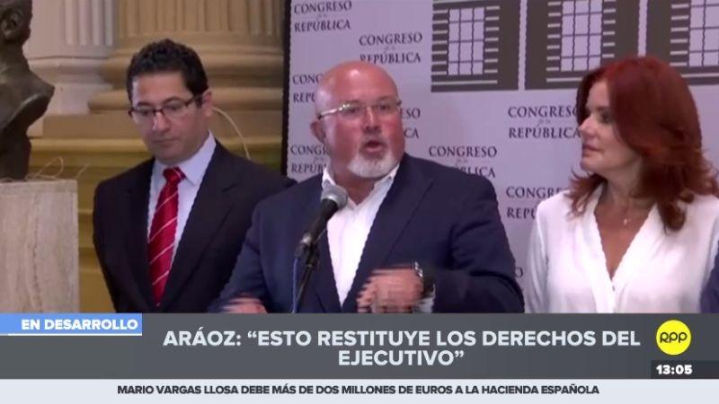La bancada Peruanos por el Kambio ofreció una conferencia de prensa tras conocerse el fallo del TC.