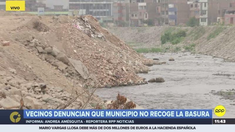 Así luce la ribera del río Rímac tras el irresponsable arrojo de basura y desmonte.