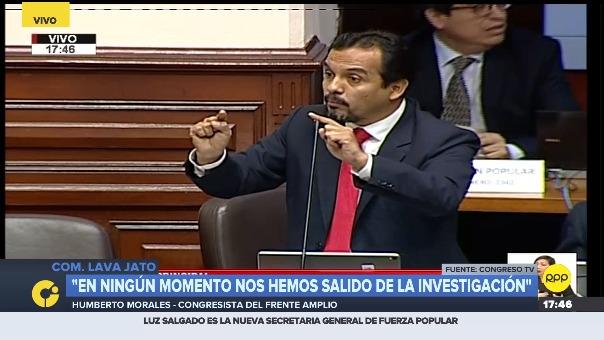 Humberto Morales responde tras la intervención de Mauricio Mulder.
