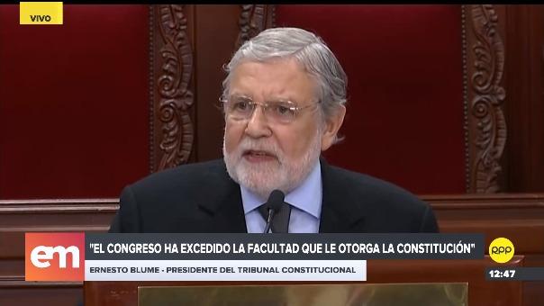 El presidente del TC dijo que uno de los fundamentos de la sentencia es que el Congreso había excedido la facultad que le otorga la Constitución.