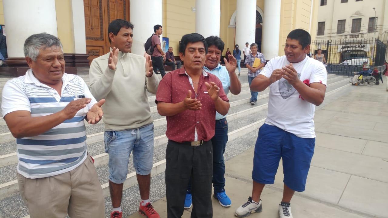 Protesta en pleno centro de Chiclayo.