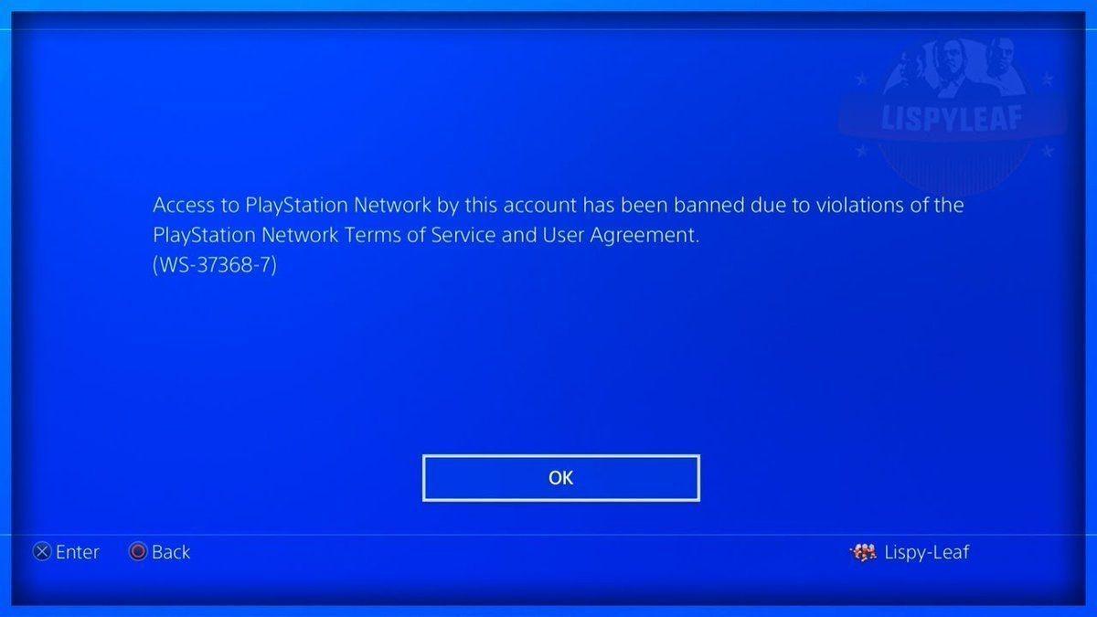 Este es el error que presentan los usuarios penalizados.