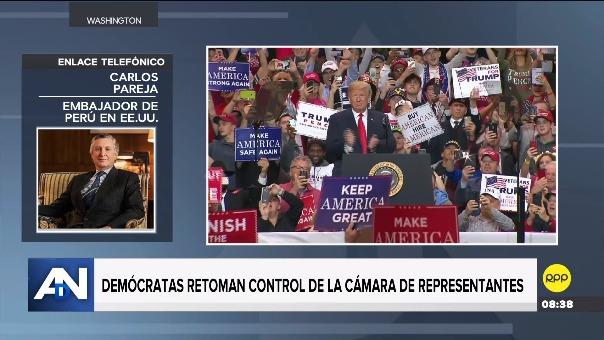 Carlos Pareja, embajador de Perú en EE.UU., y el internacionalista Oscar Schiappa-Pietra, analizaron los resultados de las elecciones y el futuro político de EE.UU. en diálogo con RPP Noticias.