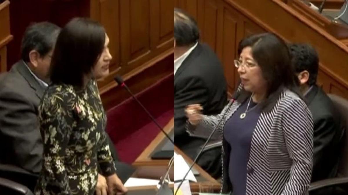 Así fue el cruce entre María Elena Foronda y Milagros Salazar en el Congreso.
