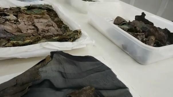Algunas de las piezas arqueológicas que están siendo restauradas.