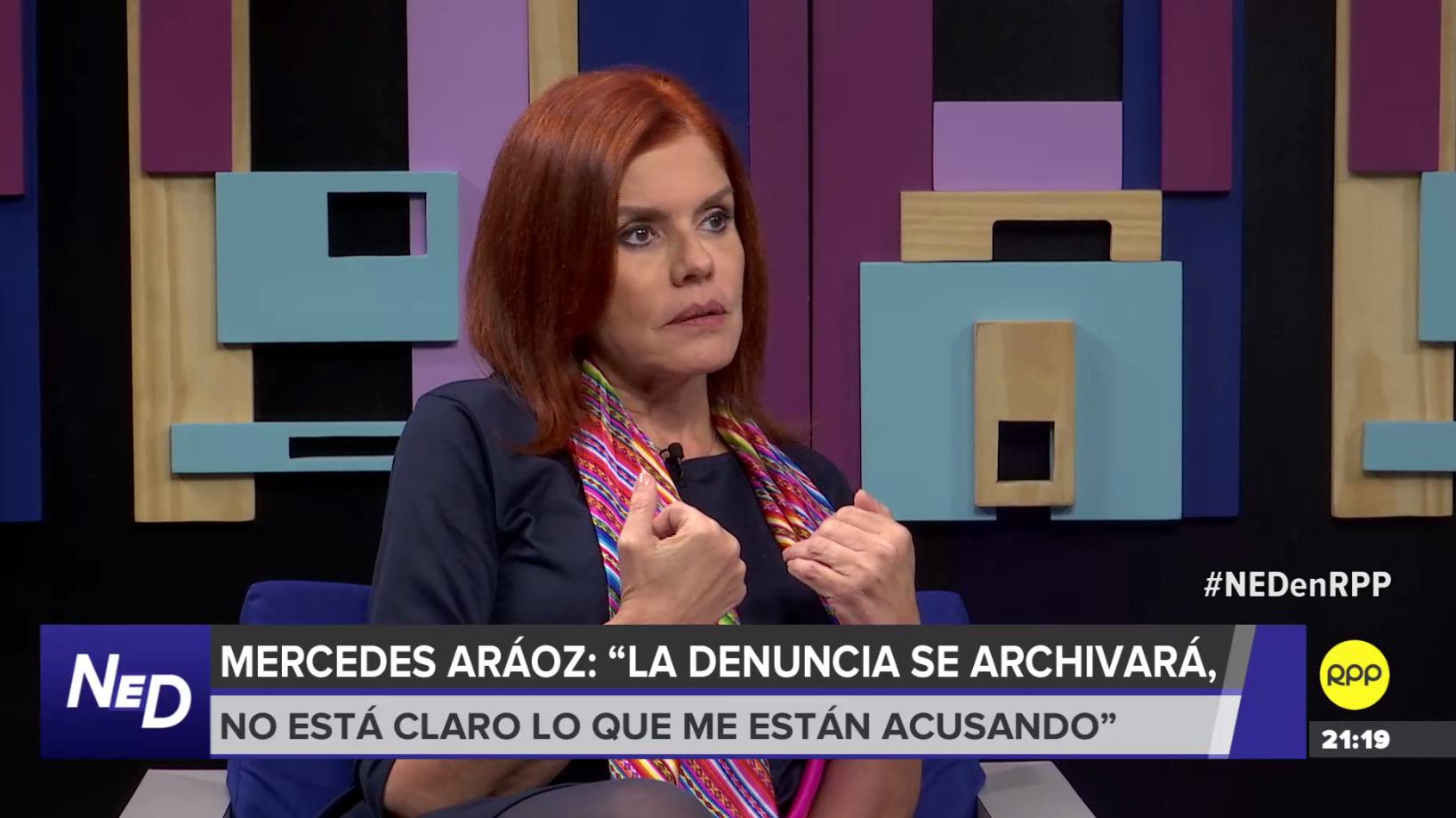 Mercedes Aráoz en entrevista con RPP Noticias.