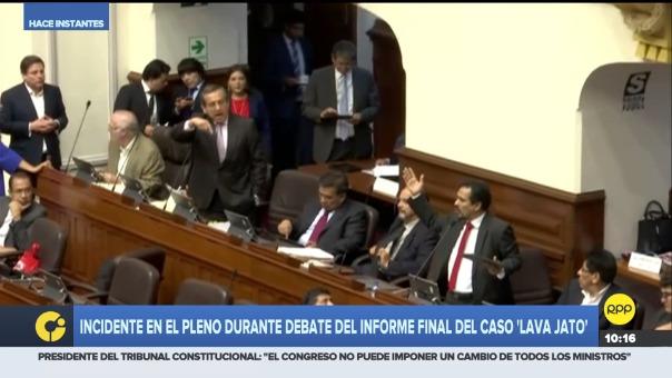 Jorge del Castillo (Apra) cuestionó el informe del congresista Humberto Morales (Frente Amplio)