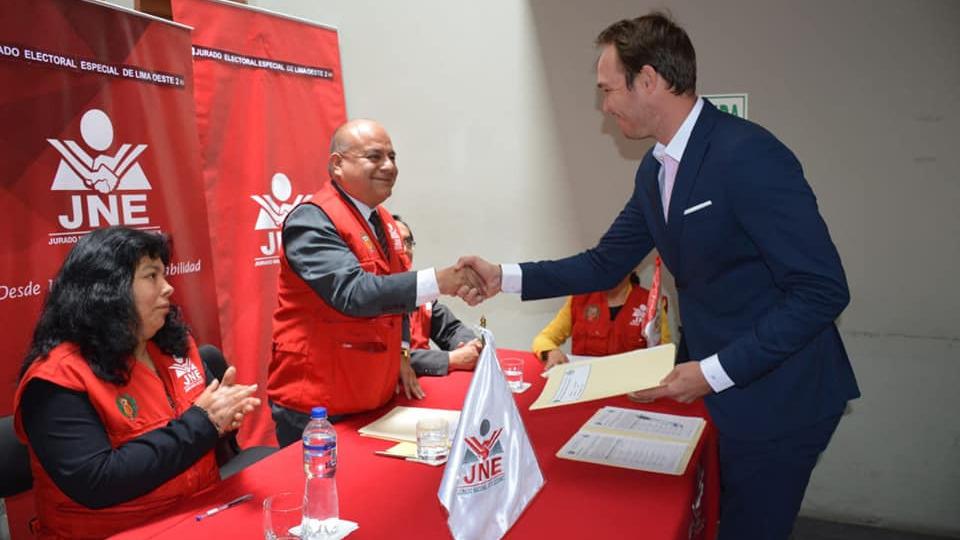 George Forsyth fue el candidato de Somos Perú para La Victoria.