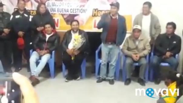Consejero municipal electo protagonizó hecho en reunión con candidato a sunga vuelta para el gobierno regional.