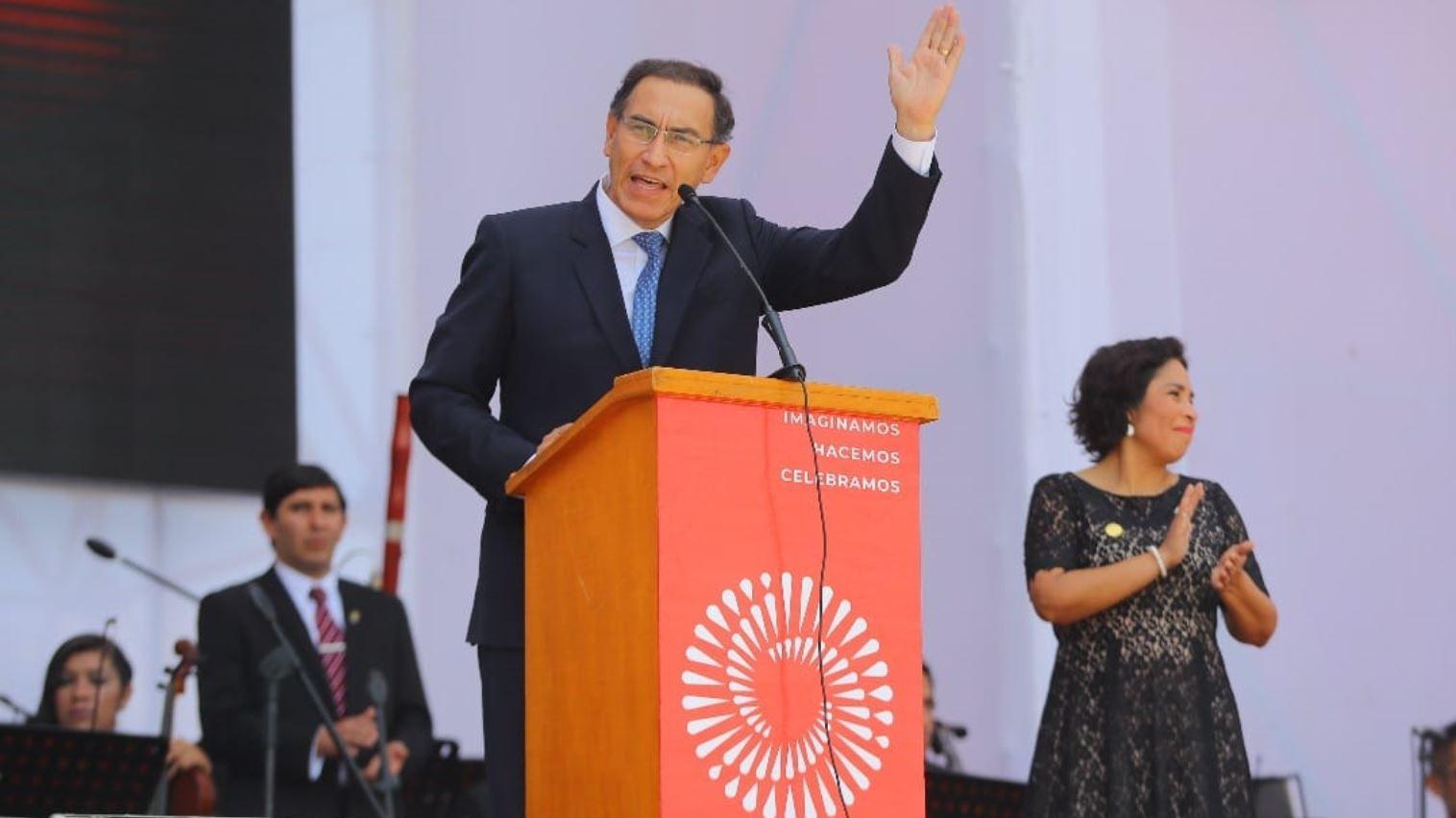 Vizcarra presidió el lanzamiento de la Agenda Bicentenario.