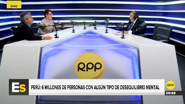 Entrevista en estudios de RPP a los psiquiatras Humberto Castillo y Martha Rondón.