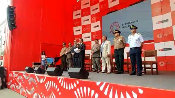 Discurso del ministro de la Producción en lanzamiento de agenda del bicentenario en el parque principal de Chiclayo.