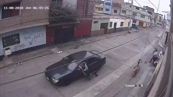 El video completo captado por la cámara de videovigilancia.