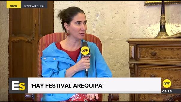 Sánchez se encuentra en Perú para participar en el 'Hay Festival'.