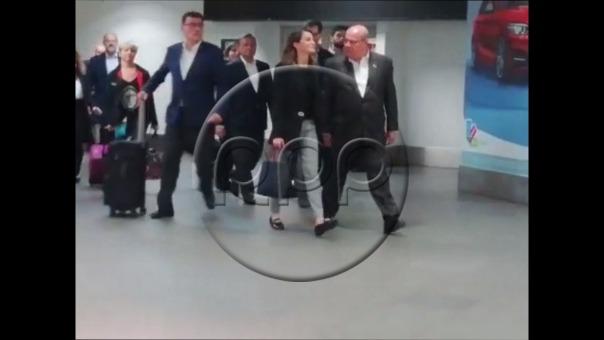 Así fue la llegada de la reina Letizia de España.