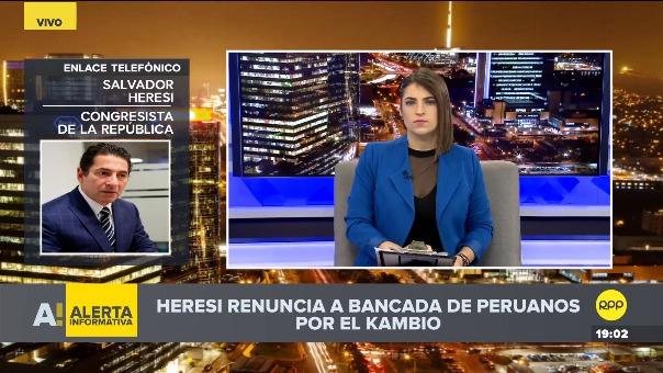 Salvador Heresi habló con el programa 'Todo empieza Aquí' de RPP, tras anunciar su renuncia.
