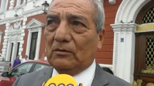 El alcalde de Trujillo, Elidio Espinoza.
