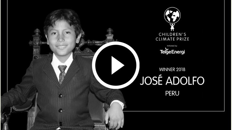 Así se anunció al ganador del Premio Climático Infantil 2018.