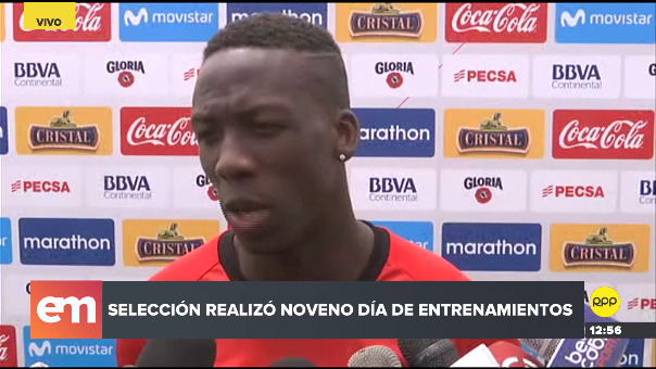 Luis Advíncula habló este martes con la prensa tras culminar las prácticas de la Selección Peruana.