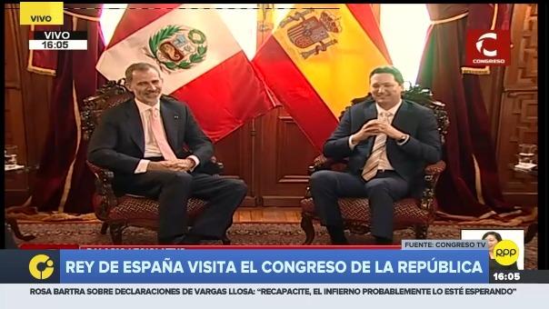 El presidente del Congreso, Daniel Salaverry, recibe a Felipe VI, quien cumple una visita oficial a nuestro país.