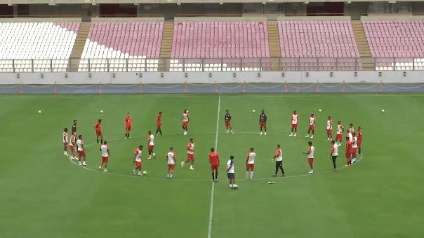 Las imágenes del entrenamiento de la Selección Peruana.