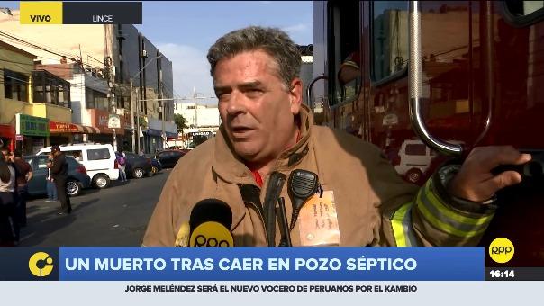 Brigadier del Cuerpo de Bomberos, Óscar Ortiz, explicó lo sucedido.