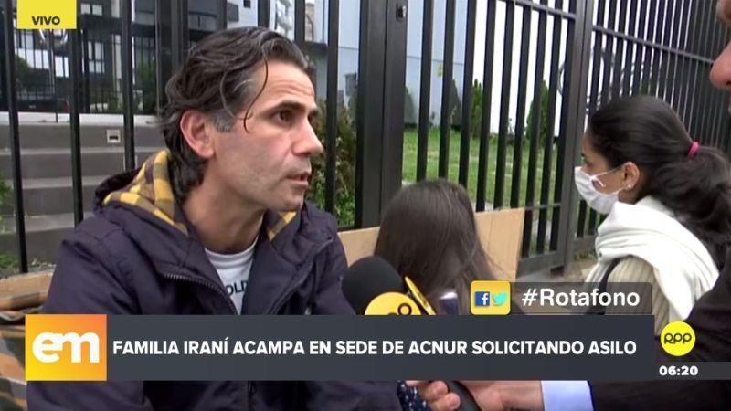 Jalal Kheirdoust y su familia contaron su caso a través de RPP Noticias.