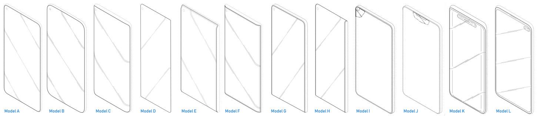 Esta es la relación de paneles patentados por Samsung en el documento enviado a La Haya